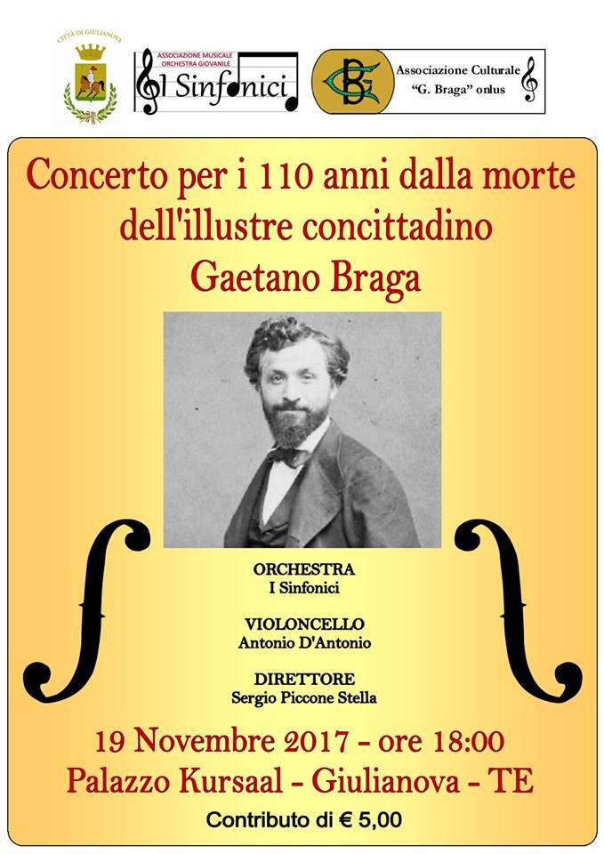 Concerto per i 110 anni morte Gaetano Braga